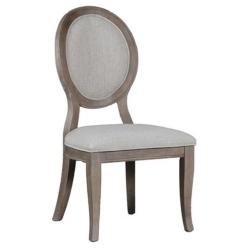 Olivia Side Chair (Set of 2) - Distressed Gray Wash - Oak Grove Collection