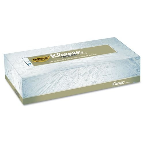 Kleenex Naturals Facial Tissue (21601), Flat Face Tissue Box, 2-PLY, 48 Boxes / Case, 125 Soft Sheets / Box, 6,000 Sheets / Case