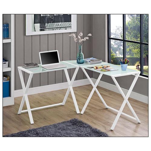 Walker Edison - Corner Computer Desk - White