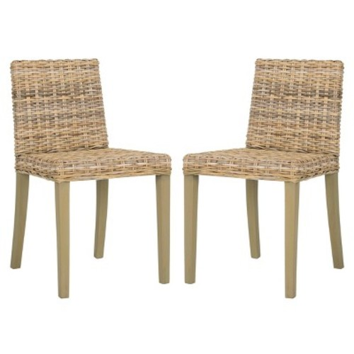 Paolo Dining Chair Wood - Gray (Set of 2) - Safavieh