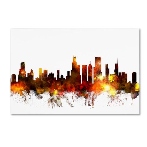Trademark Global Michael Tompsett 'Chicago Illinois Skyline VI' Canvas Art