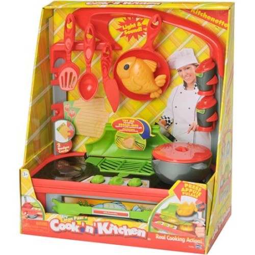 Cook N' Kitchen Kitchenette Play Set with Grill
