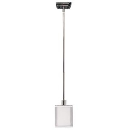 1-light Polished Nickel Mini Pendant