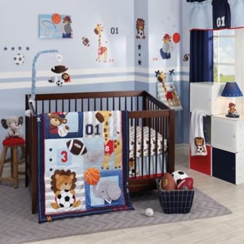 Lambs & Ivy Future All Star 4-Piece Crib Bedding Set
