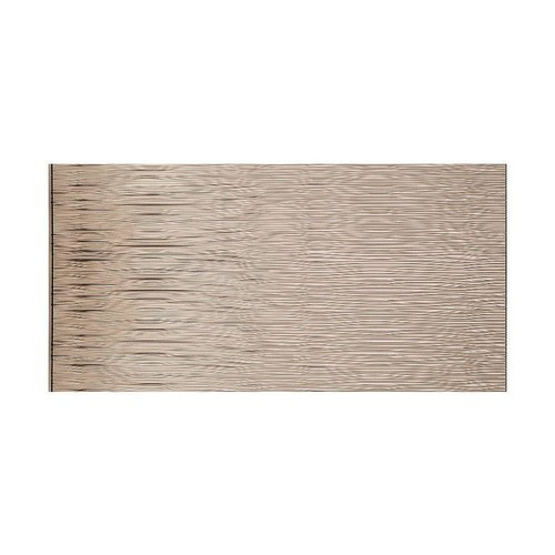 Fasade Waves Horizontal 96 in. x 48 in. Decorative Wall Panel in Brushed Nickel