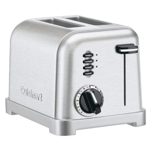 Cuisinart CPT-160 Metal Classic 2-Slice Toaster, Brushed Stainless [Brushed Stainless, 2-Slice]