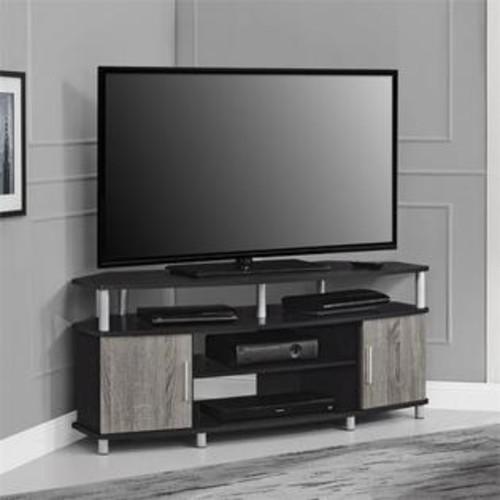 Ameriwood Home Altra Carson 50'' Corner TV Stand in Espresso and Sonoma Oak