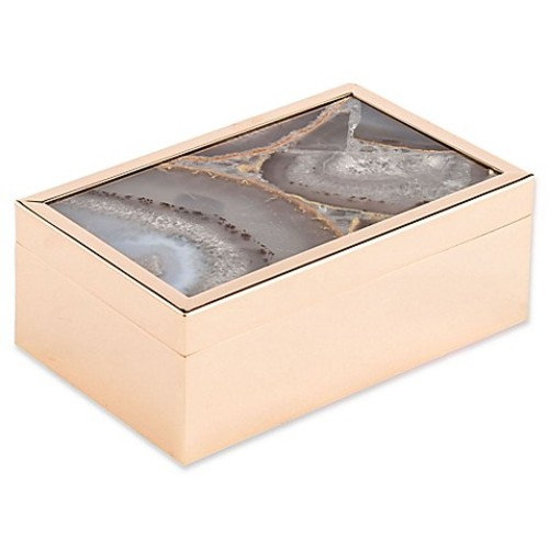 Zuo Agate Pattern Small Box in White