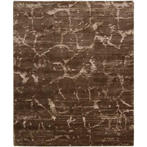 Nourison Silk Shadows Brown Rug (3'9 x 5'9)
