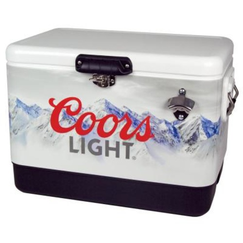Koolatron 54 qt. Stainless Steel COORS Light Ice Chest Cooler