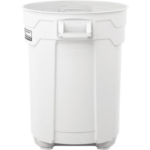 Suncast 55-Gallon Utility Trash Can  White,