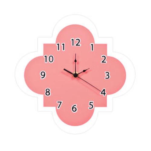 Trend Lab Trend-Lab Nursery Coral Quatrefoil Wall Clock