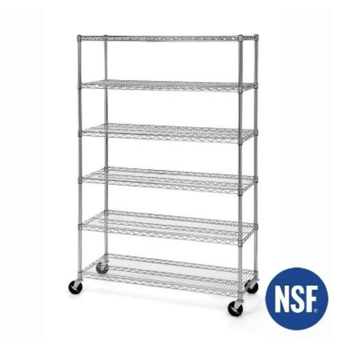 6-Tier UltraZinc NSF Steel Wire Shelving 18x48x72  Seville Classics