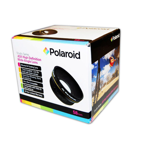 Polaroid Studio Series .43X HD Wide Angle Lens 52mm [52mm]