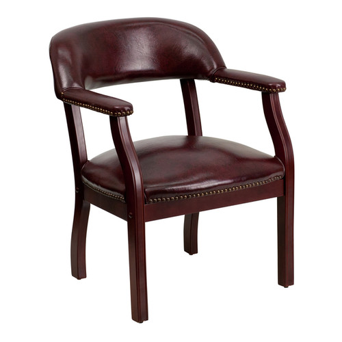 Offex Oxblood Vinyl Luxurious Conference Chair
