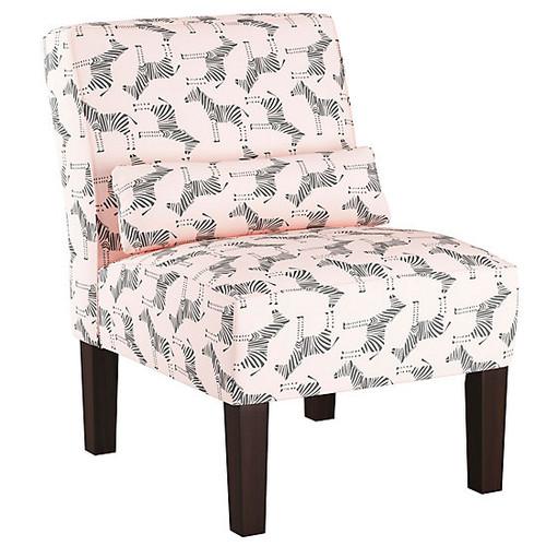 Zephyr Slipper Chair [Fabric : Zephyr Blush]