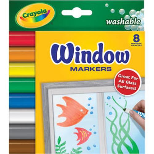 Wmu Crayola Washable Window Markers-8/Pkg