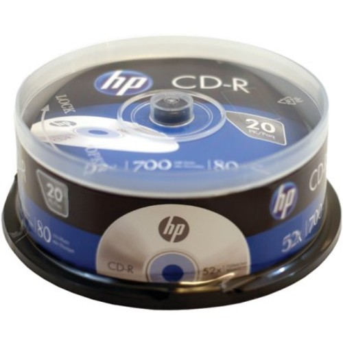 HP Cr52020cb 700MB CD-Rs, 20-pk Spindle