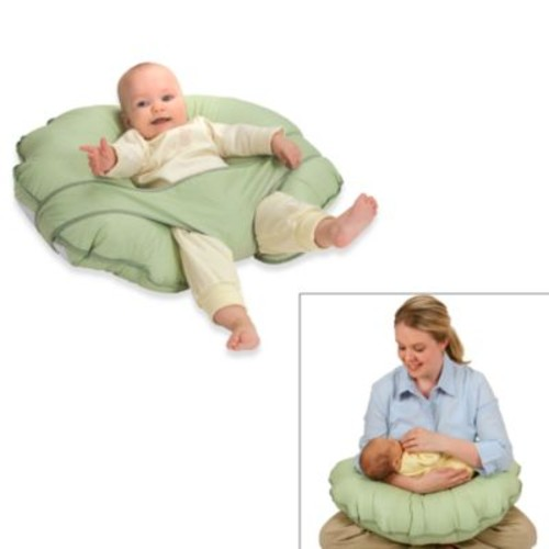 Leachco Cuddle-U Original Nursing Pillow and Support System in Green Dot
