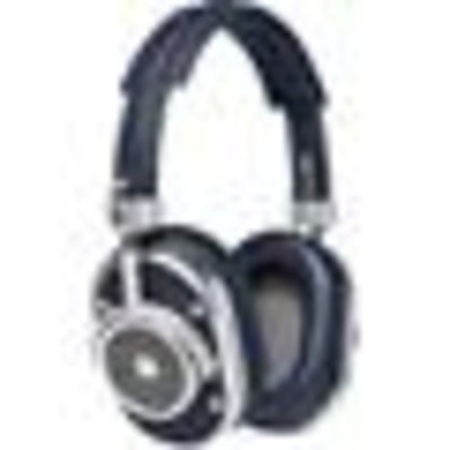 Master & Dynamic MH40 (Silver Metal/Navy Leather) Over-ear headphones with Apple remote and microphone