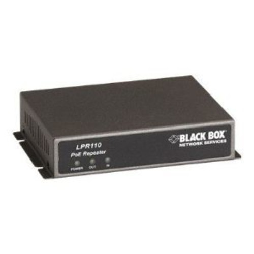 Black Box PoE Repeater - Repeater - Ethernet, Fast Ethernet - 10Base-T, 100Base-TX - RJ-45 / RJ-45