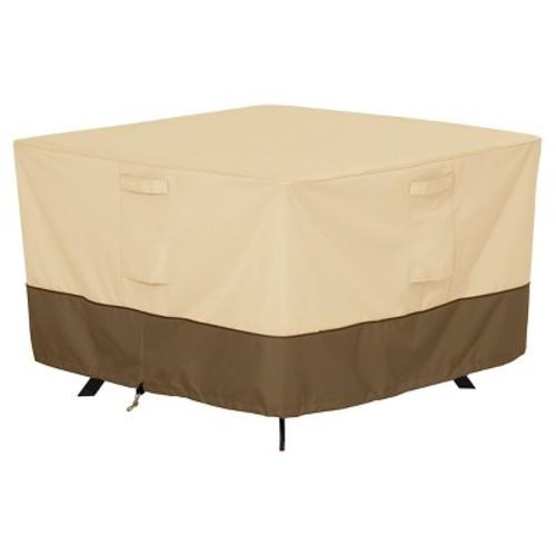 Classic Accessories Veranda Square Patio Table Furniture Storage Cover, Pebble