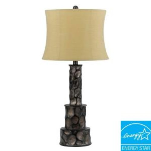 CAL Lighting Danbury 29.5 in. Dark Grey Resin Table Lamp with Black Accents