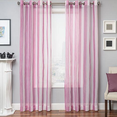 Softline Laguna Stripe Sheer Window Curtain - 50'' x 84''