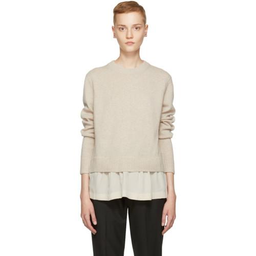 JOSEPH Beige Wool Layered Sweater