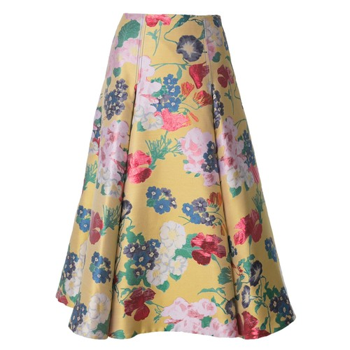 VALENTINO Romantic Garden Brocade Skirt