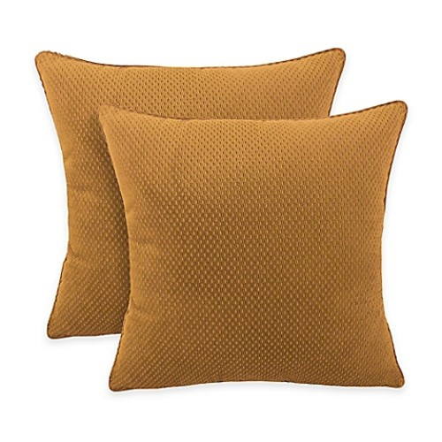 Arlee Home Fashions Convex Textured Woven Square Throw Pillow in Nougat (Set of 2)