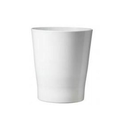 SKUSA Malaga Clay Pot Planter; Shiny White