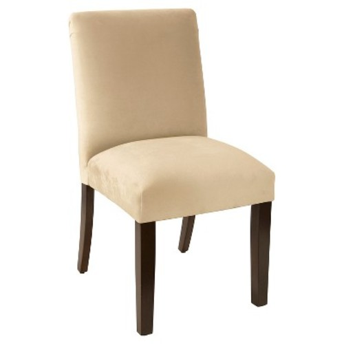 Tufted Dining Chair - Velvet Buckwheat - Skyline Furniture