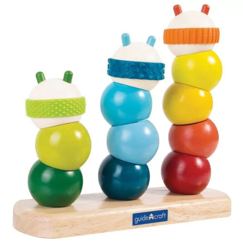 Guidecraft Learning & Educational Toys Caterpillar Stacking