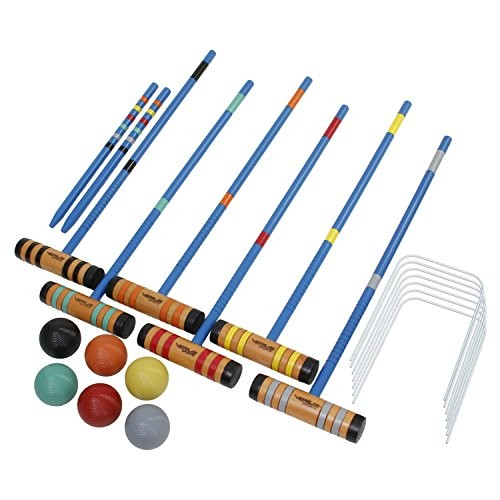 Verus Sports Champion 6-Player Croquet Set Mallet and Carrying Case, 24-Inch