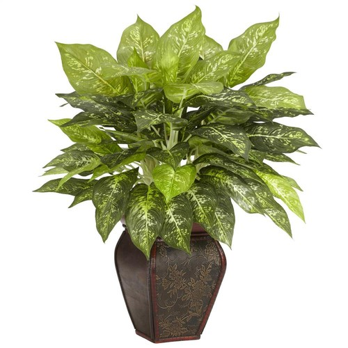 Nearly Natural Dieffenbachia w Decorative Vase Silk Plant