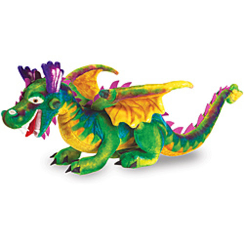 Melissa & Doug Blue/Multicolor Plush T-Rex Toy