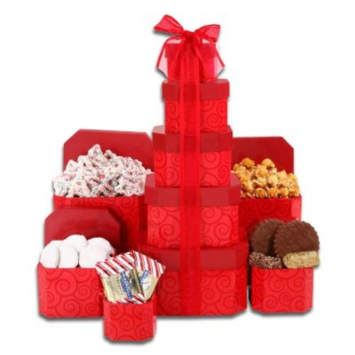Alder Creek Gift Baskets Red Holiday Tower