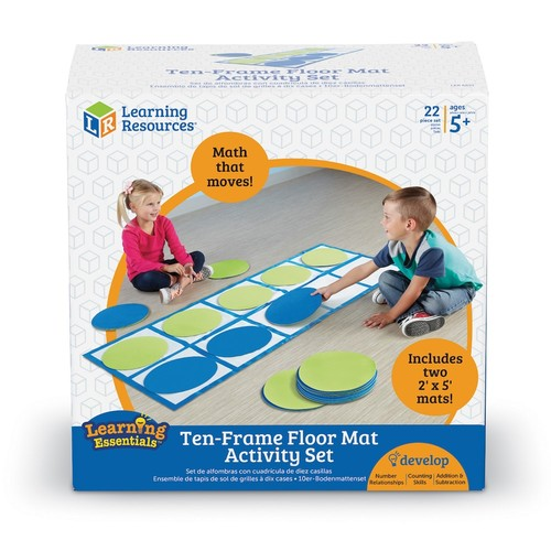 Learning Resources Ten-Frame Floor Mat Activity Set