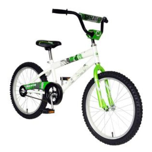 Mantis Boys 20 Inch Grizzled Bicycle in Green & White