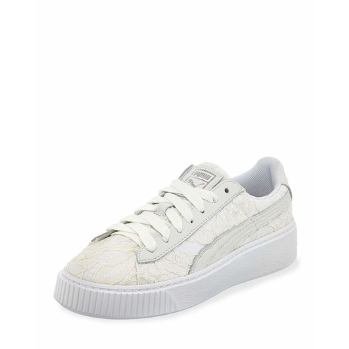 Leather & Lace Low-Top Sneaker, White