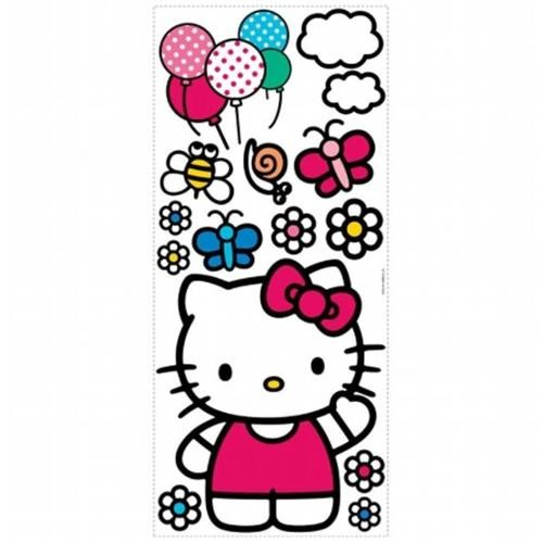 Roommate RMK1679GM The World of Hello Kitty Peel and Stick Giant Wall Decals