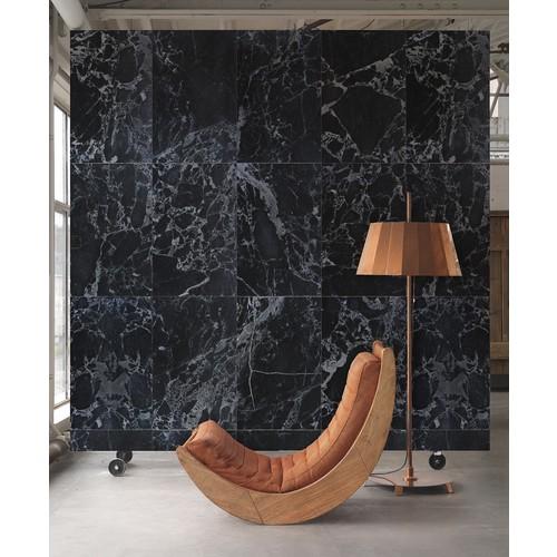 Black Marble Wallpaper design by Piet Hein Eek for NLXL Wallpaper - Roll - Tiles A - 19\