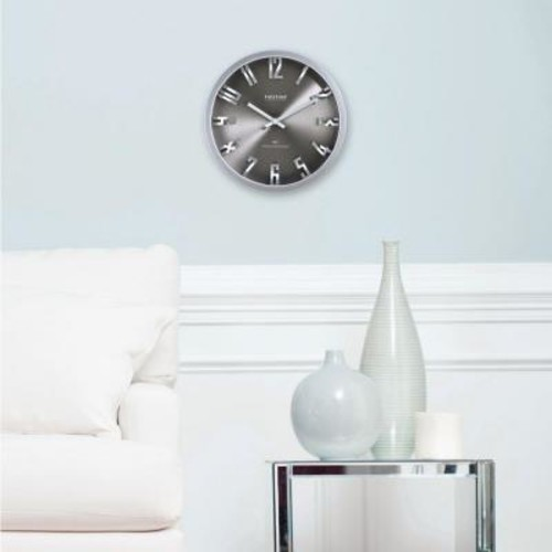 FirsTime 10 in. H Steel Dimension Wall Clock