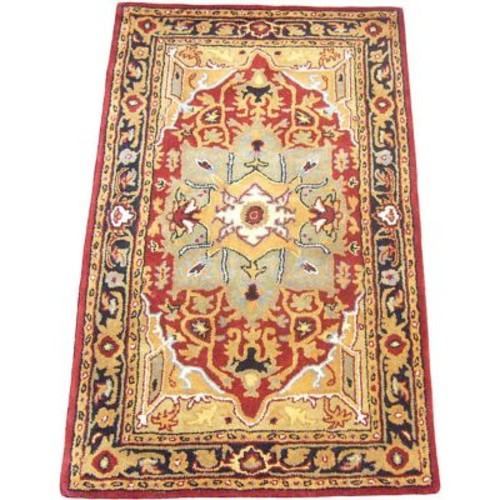 Herat Oriental Hand-Tufted Red/Black Area Rug