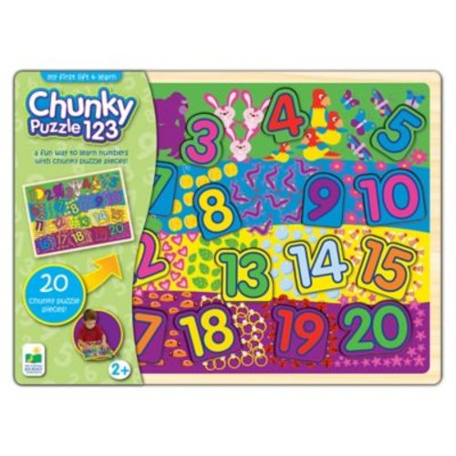 The Learning Journey My First Lift & Learn 123 Chunky Puzzle