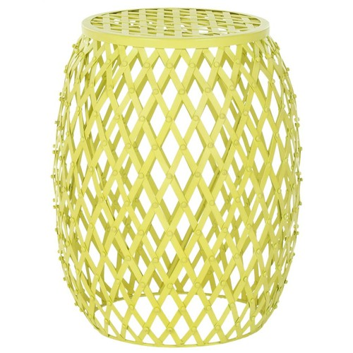 Safavieh Iron Strips Side Table in Yellow
