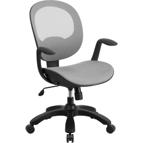 Flash Furniture Mid-Back Mesh Swivel Task Chair with Seat Slider and Ratchet Back, Multiple Colors