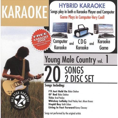 Karaoke: Young Male Country [Audio Stream Karaoke] [CD]