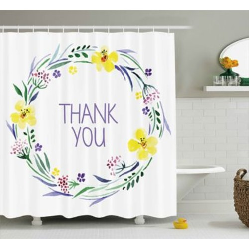 Varick Gallery Banister Romantic Floral Quote Shower Curtain; 69'' W x 84'' L